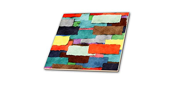 3dRose ct/_7667/_4 Colorful Abstract Blocks by Angelandspot Ceramic Tile 12-Inch