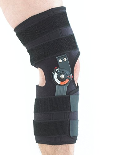 (Neo G Hinged Knee Brace, Adjusta Fit - Open Patella - Support For Arthritis, Joint Pain, Tendon, Ligament Strains, ACL, Injury Recovery - Adjustable Dials - Class 1 Medical Device - One Size - Black )