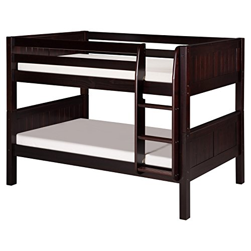 Camaflexi Panel Style Solid Wood Low Bunk Bed With Drawers