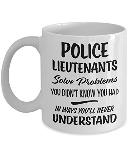 Police Lieutenant Gift Mug - Funny Novelty Appreciation Coffee Cup