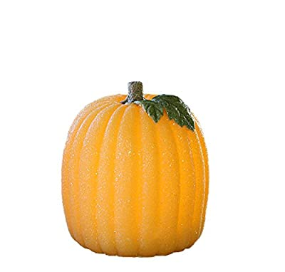 Candles Impressions Flameless LED Real Wax Glitter Pumpkin- Orange