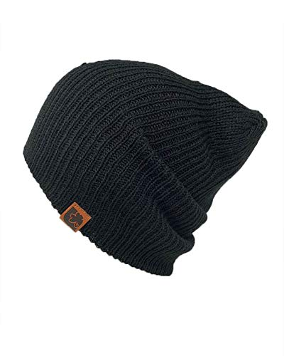 The Hatter Trendy Warm Soft Stretch Long Beanie (Black) ()