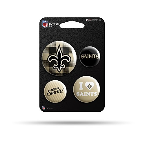 Rico Industries NFL New Orleans Saints Team Button Set