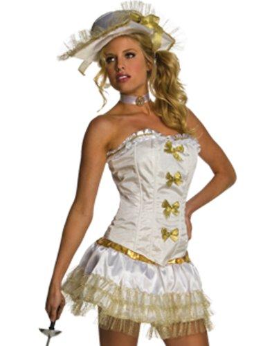 (Secret Wishes  Costume Women's Musketeer Costume, White,)