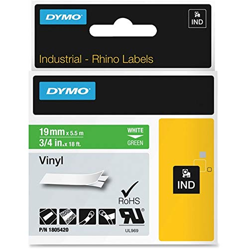 DYM1805420 - Dymo White on Green Color Coded Label ()