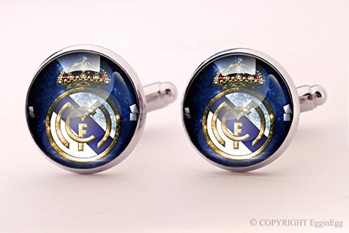 - Real Madrid Cuff links,Real Madrid,Crown,Imperial crown,Queen Jewelry,