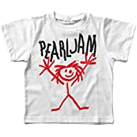 Camiseta infantil Pearl Jam Handmade, Let's Rock Baby, Branco