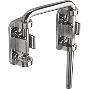 Prime-Line Products U 9847 Sliding Door Loop Lock, 2-1/8 in., Hardened Steel Bar w/Diecast Base, Chrome Plated