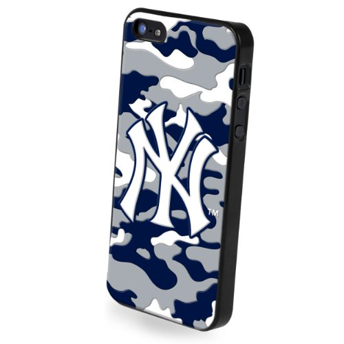 Forever Collectibles New York Yankees Camouflage Team Logo Hard Snap-On Apple iPhone 5 & 5S Case
