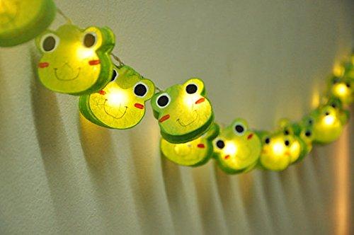Battery AA LED 25 lights Prince Frog Mulberry Paper Lantern String Light Kid Bedroom Light Display Garland Colorful
