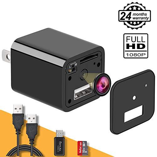 Home Surveillance Hidden Camera Charger Camera 1080P Motion Detection Wall Camera Adapter Loop Recording 32G Inside Upgrade (Best Recording Cameras)