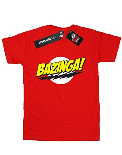 Big Theory Homme Bang Sheldon Bazinga T Rouge shirt The 67qBwHw
