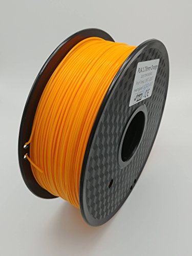 (Infinity 3D PLA-1KG-1.75mm-Orange 3D Printing Filament +/- 0.03 Accuracy, Orange)
