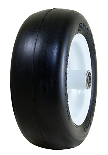 Marathon 11x4.00-5' Flat Free Tire on Wheel, 5' Centered Hub, 3/4' Bearings (Renewed)