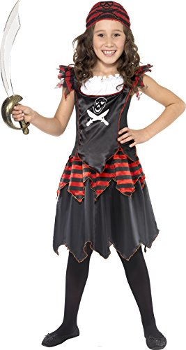 Medium Children's Pirate Girl Costume (Ladies Halloween Costumes Next Day Delivery)