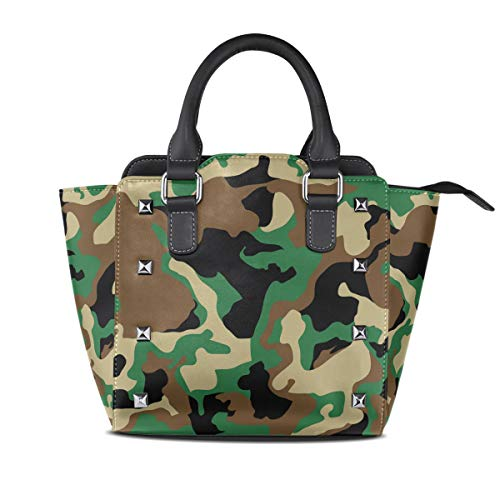 Women's Handbags Military Camo Woodland Camoflage Tote