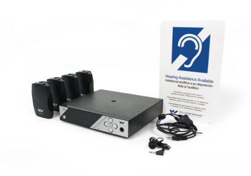 Williams Sound PPA 457 Personal PA FM Assistive Listening System, Up to 1000' Operating Range, Transmitter is FCC Part 15 Compliant, Microprocessor Controlled, Accommodates Any Number of Listeners