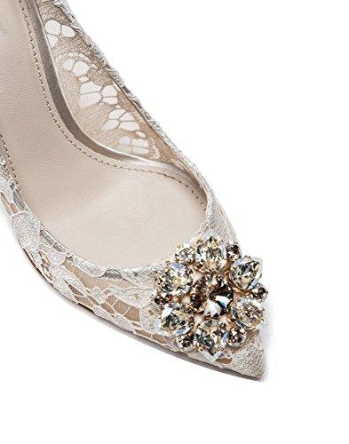 Scarpe Magnifico da Tacco Tacchi sexy Tacchi del sposa col uBeauty merletto alti Scarpe nozze di Bianco THSXxq