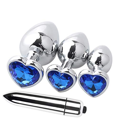 hot sale Massager Personal Bullet,4 Pcs Heart Shaped Base With Jewelry Birth Plugs Anal Mini Jump Eggs Trainer Toy -