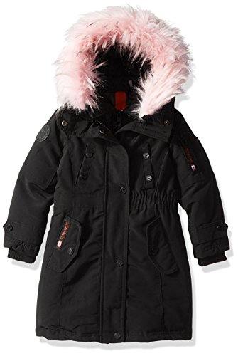Hooded Outerwear Girls' Available Canada Hooded Weather Pink Styles Little Jacket black Parka cw046 More Gear wqSHzg
