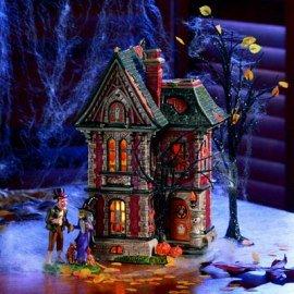(Dept 56 Snow Village Halloween Boo Mansion, Set of)