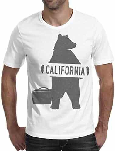 3f50e0461908cc Burton Scripps Men s Welcome to California Bear Flag Short Sleeve T Shirt  Fashion T-Shirts