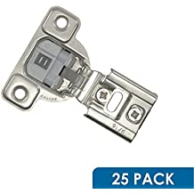 "25 Pack Salice 106 Degree Silentia 9/16"" Overlay Screw On Soft Close Cabinet Hinge CUP36D9"