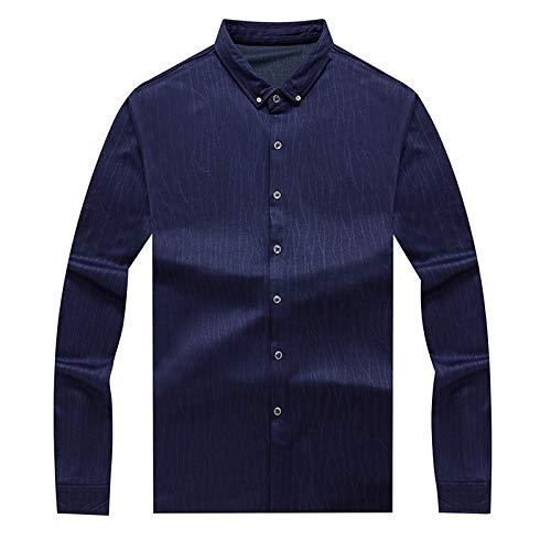 IYFBXl Männer Arbeitshemd - Solid Farbeed Long Sleeve