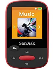 SanDisk Clip Sport 4GB MP3 Player, Red with LCD Screen and Micro SDHC Card Slot (Renewed)…