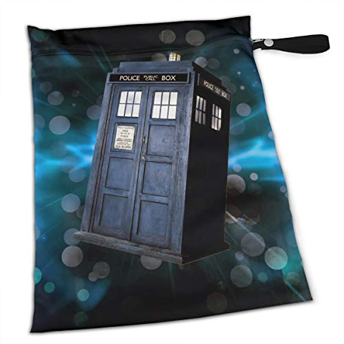 NRDXQ London Phone Booth Starry Sky Wet Dry Cloth Diaper Bags - Baby Waterproof Washable Reusable Hanging Diaper Organizer