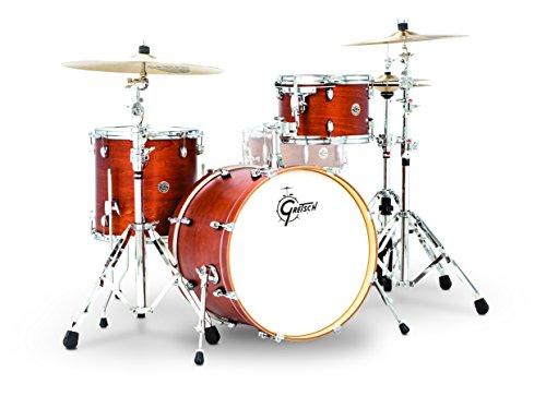 Gretsch Drums Gretsch CT1-J403-SWG Catalina Club 3 Piece Shell Pack 14x20 Bass, 8x12 Suspended, 14x14 Floor Tom Satin Walnut Glaze, inch ( -