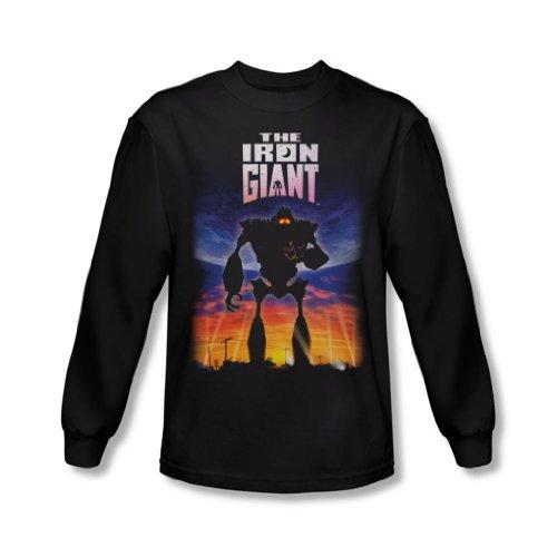 Iron Giant - Herren Langarm-Shirt Poster In Black, Medium, Black