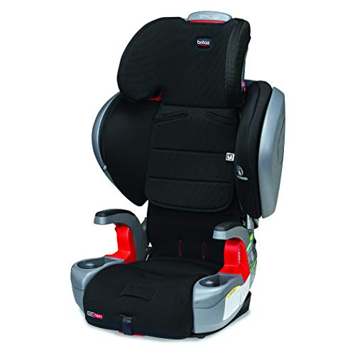 41RTZHZFn7L - Britax Grow With You ClickTight Plus Harness-2-Booster Car Seat | 3 Layer Impact Protection - 25 To 120 Pounds, Jet Safewash Fabric [New Version Of Pinnacle]