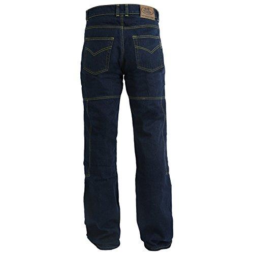 Mens 6 Pocket 280GSM Kevlar Black Motorcycle Denim Jeans//Cargo Pants Huge Size Range Armour