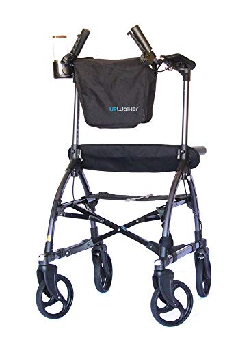 UPWalker Mobility Stand Up Walking Aid - Large Size (Upright Posture Rolling Walker With Seat)