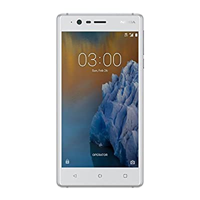 Nokia 3 16GB Android Single-SIM Factory Unlocked 4G/LTE Smartphone (Silver White) - International Version