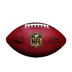Wilson NFL Duke Game Leather - Balón de fútbol americano, color marrón, talla única