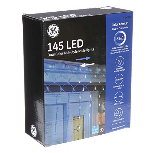 Ge Led Cool White Icicle Lights in US - 8