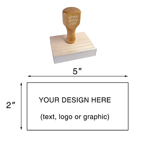 Traditional Wood Handle Rubber Stamp. Max. Image Size: 2
