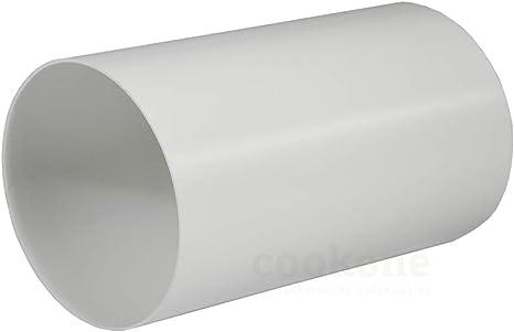 EASYTEC Tubo Redondo De 150 Mm De Diámetro, Longitud 50 cm | exterior 152 mm, interior 148 mm, tubo de plástico Canalizado Tubo redonda Tubo: Amazon.es: Grandes electrodomésticos