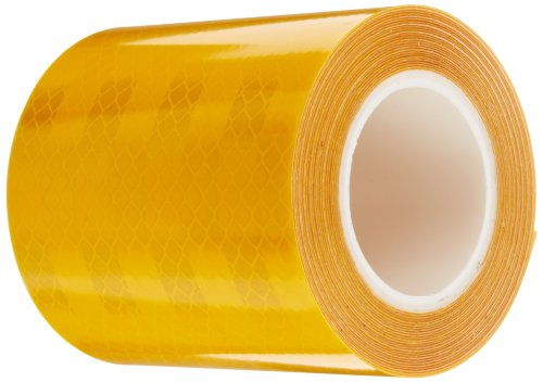 3M 3431 Yellow Micro Prismatic Sheeting Reflective Tape, 3 x 5 yd (1 Roll)