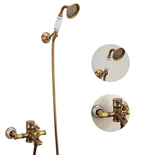 Manifold Bar 300 (Bathroom Rainfall Brass Chrome Shower Head Double Outlet Manifold for Dual Sprayer Shower System, Shower Head Valve for Using 2 Showerheads Simultaneously, 1 G1/2