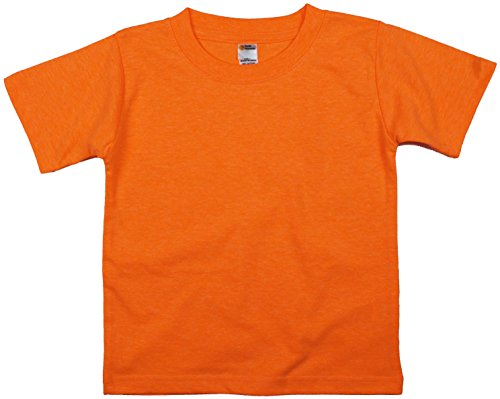 Earth Elements Little Kids'/Toddlers' Short Sleeve T-Shirt 6T Neon Orange ()