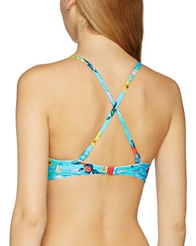 Bmu Multi Multicolore Aloha Print Flower Top Bikini Lepel Donna qFw8pUxY