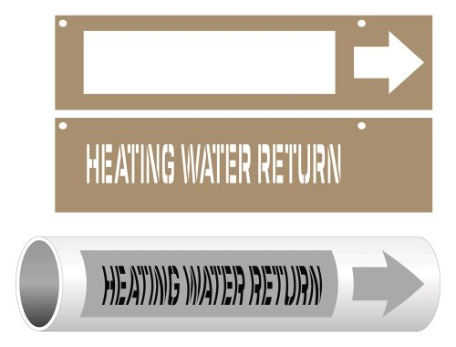 ComplianceSigns Plastic ASME A13.1 HVAC Pipe Stencil, 3x15 inches from ComplianceSigns