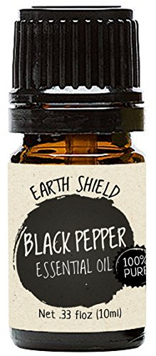 Earth Shield Black Pepper Essential Oil is 100% Pure and Therapeutic Grade - 10ml.