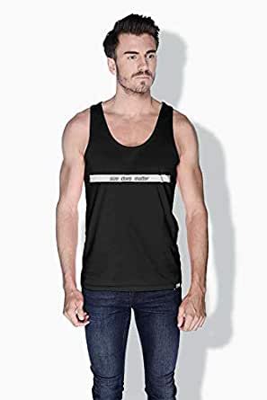 Creo Size Does Matter Funny Tanks Tops For Men - S, Black