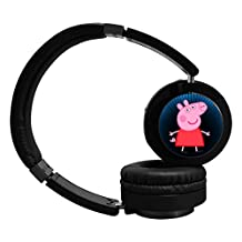 Peppa Pig Wireless Bluetooth Headphone Surround Sound Gaming Headset for PC Playstation 4 On Cable Controls Sports Performance Pads Rotating Ear Cups Light Weight Design for Teens and Adults