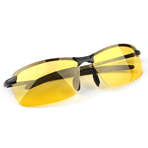 LOMOL Mens Advanced Fashion Cool Polarized Rectangle Night Vision Goggles Driving - Much Do Cost How Sunglasses Costa