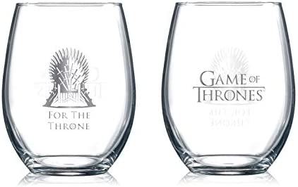 For the Throne Game of Thrones Collectible Wine Glasses
